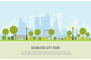 City park seamless background