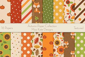 Autumn Digital Paper Collection
