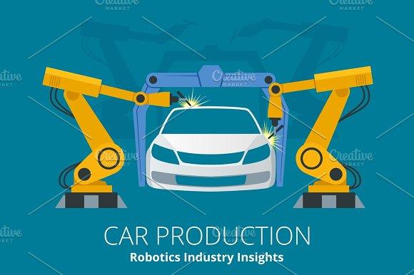Car Manufacturer Or Car Production Concept Robotics Industry Insights
