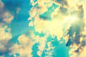 Orange clouds and sky
