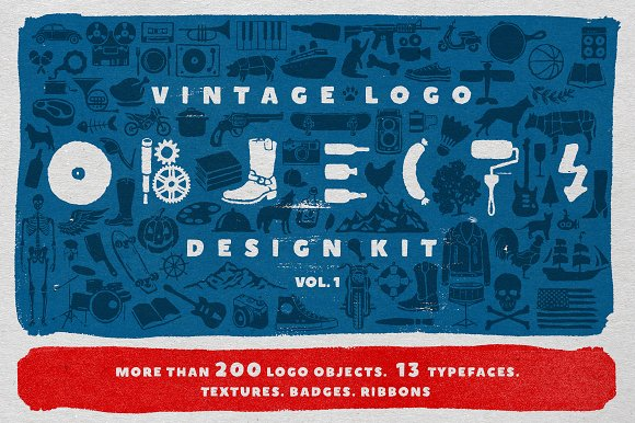 Objects Fonts Vintage Logo Kit