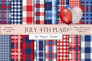 Fourth of July Plaid