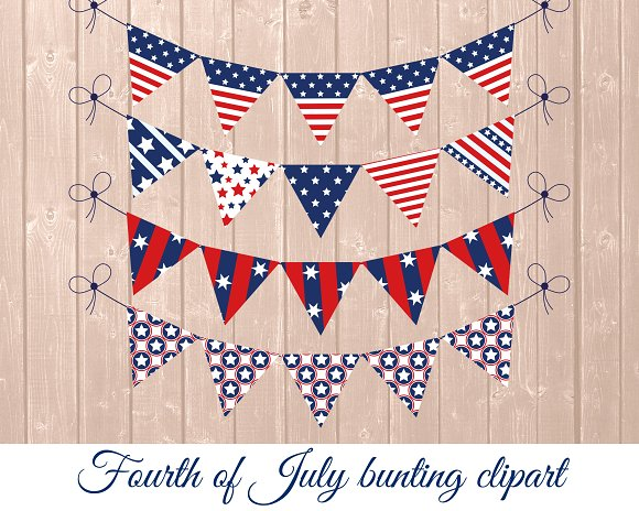 Independence Day Bunting Clipart