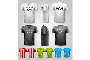 Polo shirts with sample text space