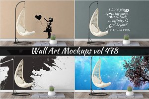 Wall Mockup - Sticker Mockup Vol 478
