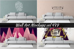Wall Mockup - Sticker Mockup Vol 479