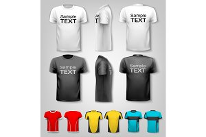 Set of black and white t-shirts
