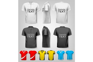 T-shirts with sample text space