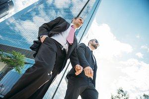 Businessman with walking tie