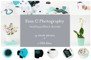 Teal/Aqua/Black | Stock Photo Bundle