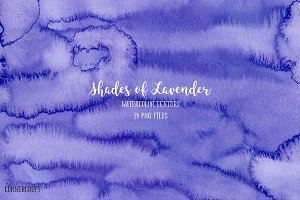 Watercolor Texture Lavender Shades
