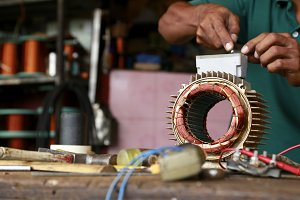 Old electric motor needs maintenance