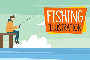 25 Fishing Illustration