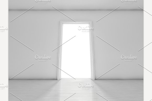 Open Door In A Room