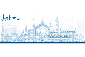 Outline Lucknow Skyline