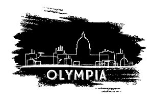 Olympia Skyline Silhouette.