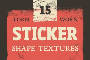 Torn Sticker Shape Textures