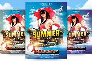 Summer Beach Party Flyer Template v2