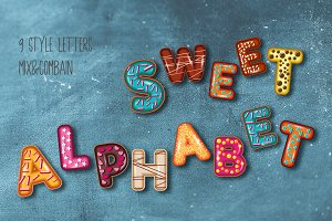 Set 9 Style Sweet Alphabet Letters