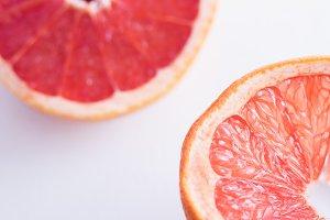 Vibrant ruby red grapefruit