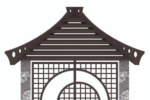 Gazebo privacy screen ornament