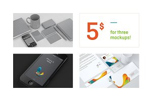 2 stationery + 1 iPhone mockups