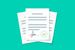Document Agreement With Signature