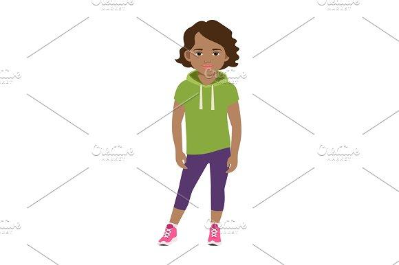 Black Girl In Green Hoodie