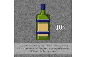 Czech liquor alcoholic beverage card