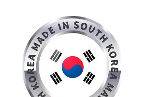 Metal icon, made in South korea
