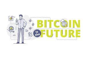 Bitcoin is the future web banner