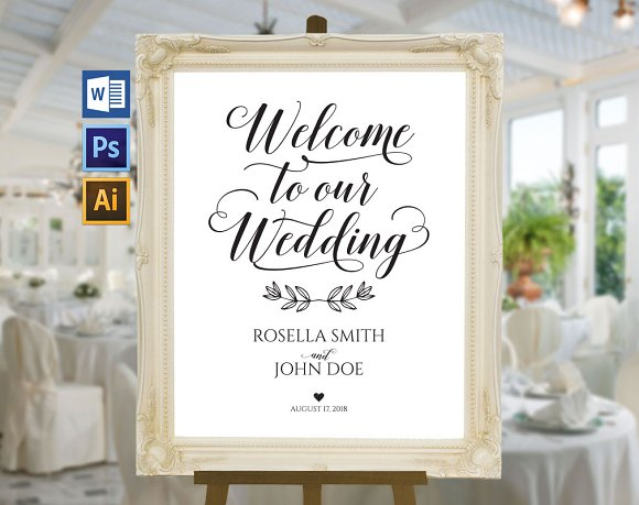 Wedding Welcome Sign Wpc 139