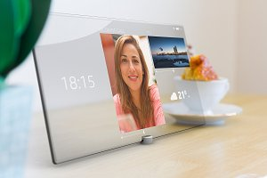 Video conferencing on tablet