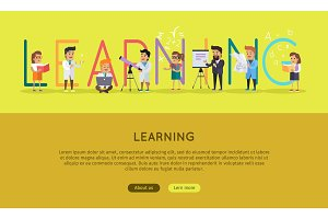 Learning Banner. Educational Concept. Laboratory