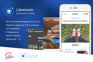Libertronic Shop theme ionic 2