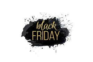 Black Friday Sale Abstract Vector Illustration.