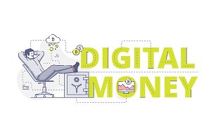 'Digital money' web banner