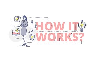 'How it works?' web banner