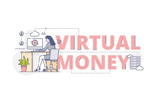 'Virtual money' web banner
