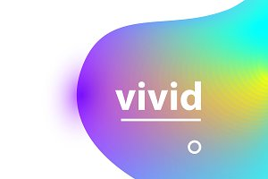 Vivid gradient blobs