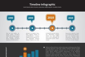 Simple Timeline Inforgraphic