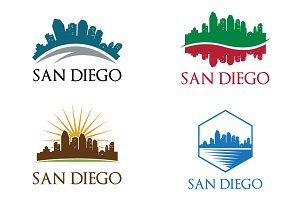 4 San Diego City Skyline Logo