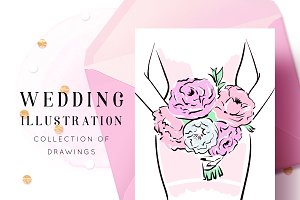 Wedding illustration collection
