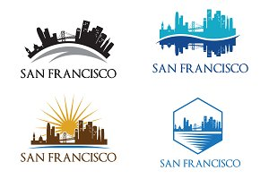 4 San Francisco City Skyline Logo