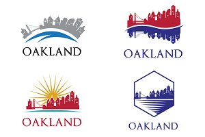4 Oakland City Skyline Logo