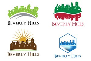4 Beverly Hills City Skyline Logo