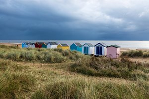 Line of Beach Huts, Southwold