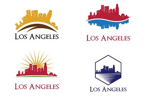 4 Los Angeles City Skyline Logo