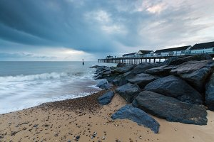 Beach at Southwold Pier