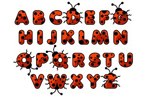 ladybug English ABC, Kids alphabet